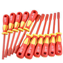 High Voltage Insulation Sleeve Screwdriver Without Magnetic SD 800 M Hex Screwdrivers