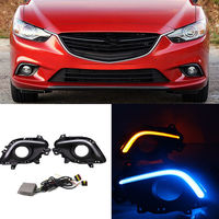 For Mazda 6 ATENZA 2012-2016 White/Ice Blue DRL Driving Lamp Yellow Turn Signals
