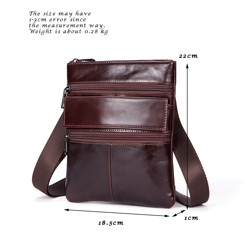 9894b57ad4 Vintage Genuine Leather Men S Messenger Bag Flap Male Man Crossbody ...