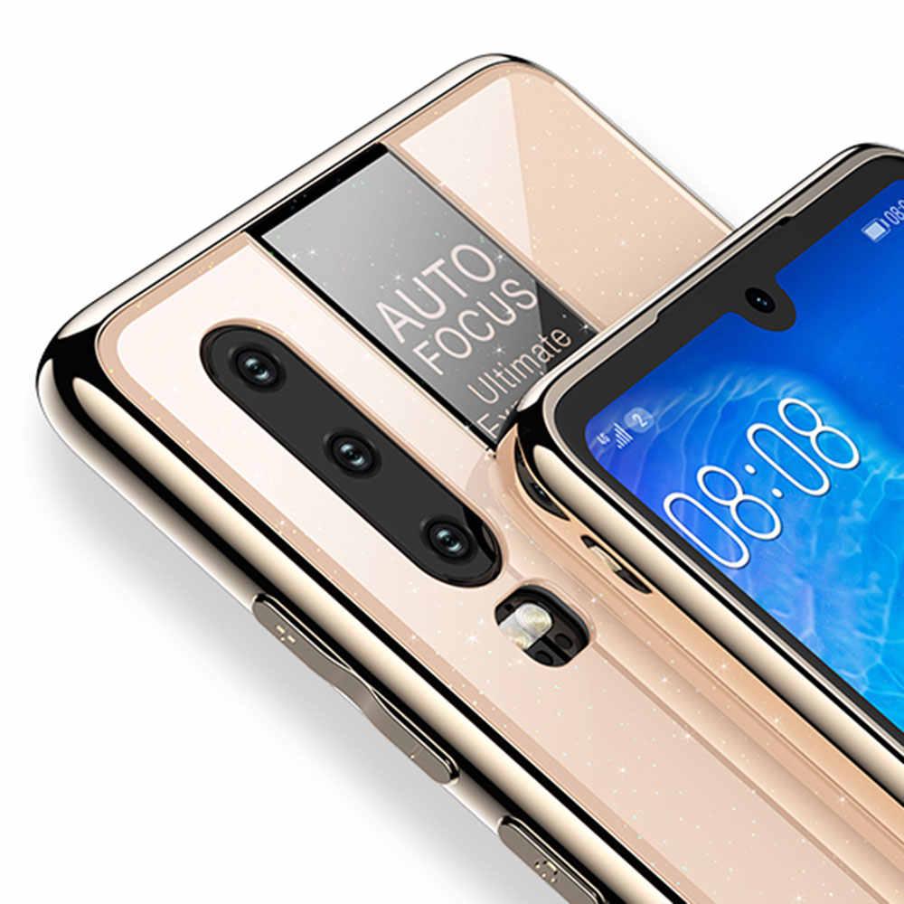 KISSCASE deportes coche estilo funda de teléfono para Huawei P10 Plus P20 P30 Lite Mate 10 20 Pro PC TPU vidrio funda para Huawei Mate 20X