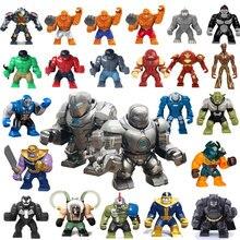 Мини Халк, Бэтмен экшн Legoed Мини фигурки кукол Marvel Супер Герои совместимые Legorate строительные блоки игрушки для детей подарок