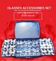 Óculos acessórios definir nariz silicone pad junta do parafuso de porca definir frete grátis atacado