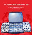 glasses accessories set silicone nose pad nut screw gasket set free shipping wholesale