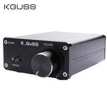 KGUSS GU100 MINI HIFI Class D เครื่องขยายเสียงดิจิตอล TPA3116D2 TPA3116 ขั้นสูง 2*100W MINI Home อลูมิเนียม enclosure AMP
