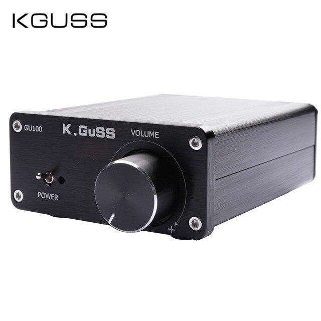 Kguss GU100 ミニハイファイクラス d オーディオデジタルパワーアンプ tpa3116d2 TPA3116 高度な 2*100 ワットミニホームアルミエンクロージャアンプ