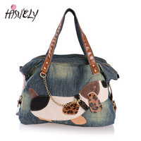Fashion Casual Women Shoulder Bag Denim Handbags Female Women Shopper Bag Jeans Travel Girls Beach Bolsos Women Purse Tote Bags