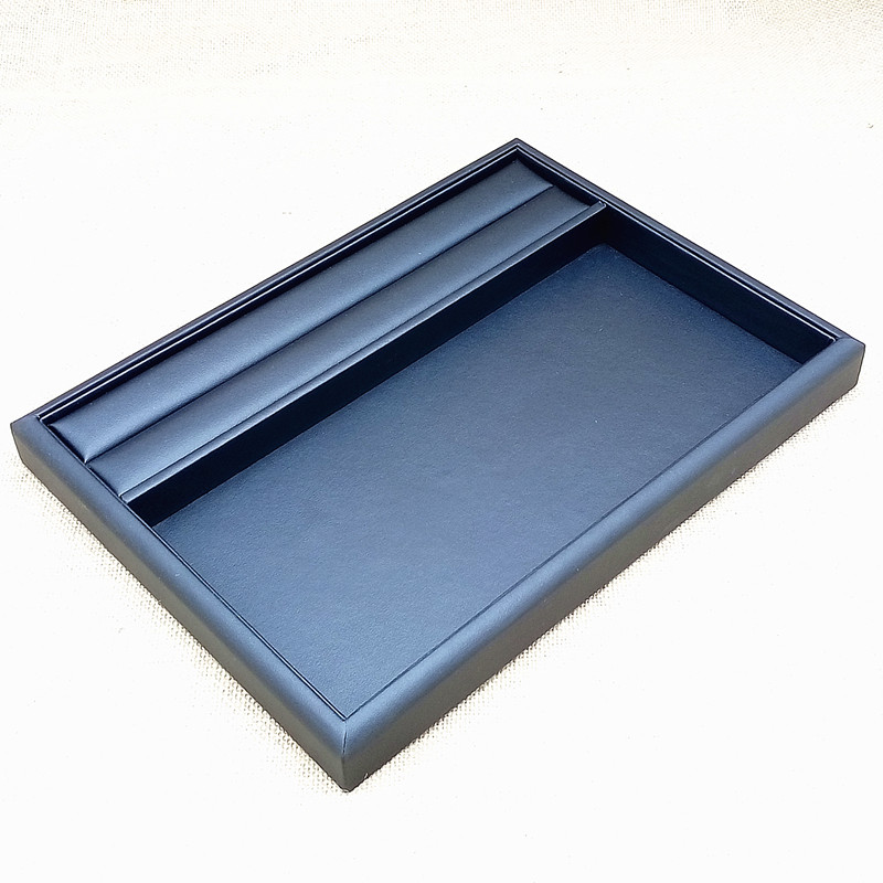 PU Tray Necklace Rings Organizer Jewelry Display PU Boxes Quality Rings Storage Case Caskets for Jewelry Show Case