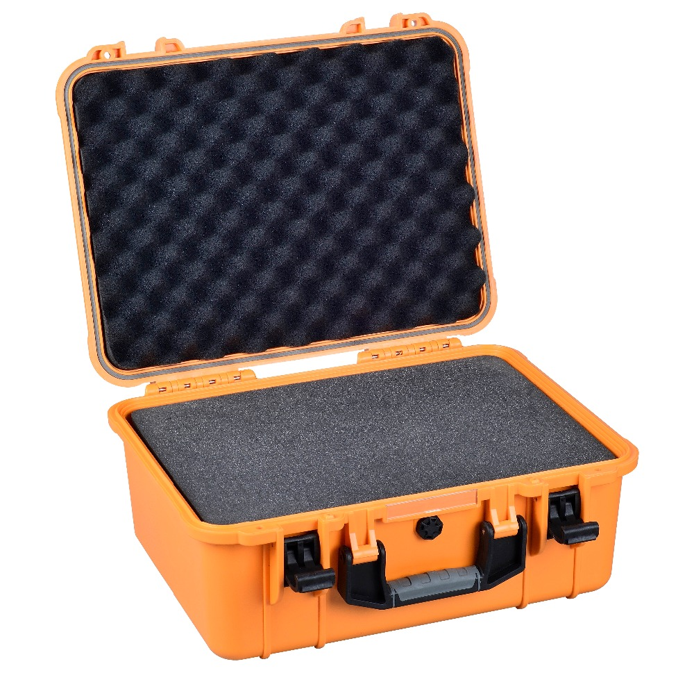 IP67 waterproof SQ1284 modified pp material instruments case with die cut foam full cube precut foam for case sq1284 without the hard case