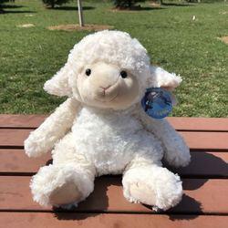 Około 30cm piękny cartoon owca pluszowa zabawka biała owca miękka lalka rzut poduszka prezent urodzinowy w0789