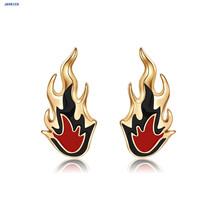 JAVRICK Women Earrings Fashion Creative Punk Fire Flame Simple Circle Decor Charms Alloy Wedding Jewelry все цены
