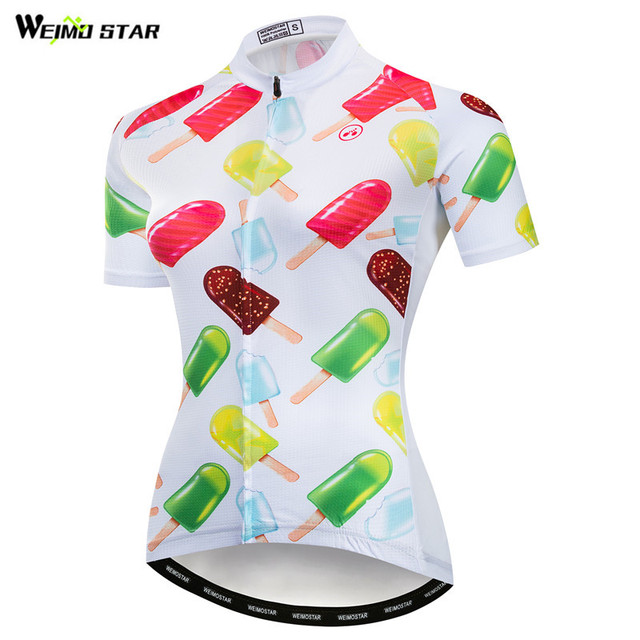 Weimostar Popsicle Womens Cycling Jersey Shirt Summer mtb Bike Jersey Quick  Dry Cycling Clothing Racing Sport c140fa947