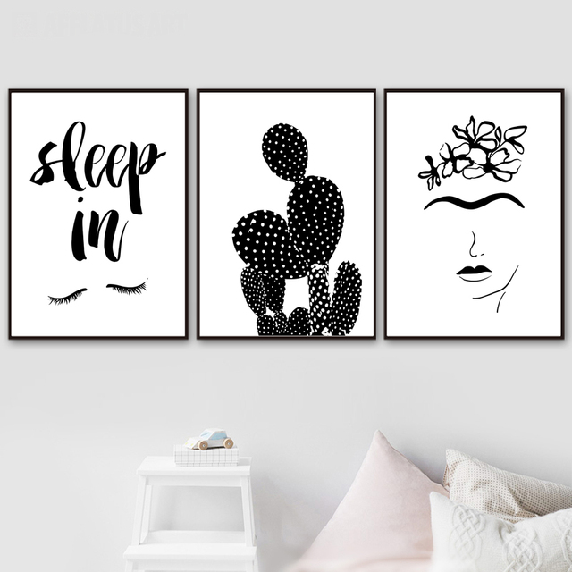 Cactus Flower Quotes Posters And Prints Wall Art Canvas Painting