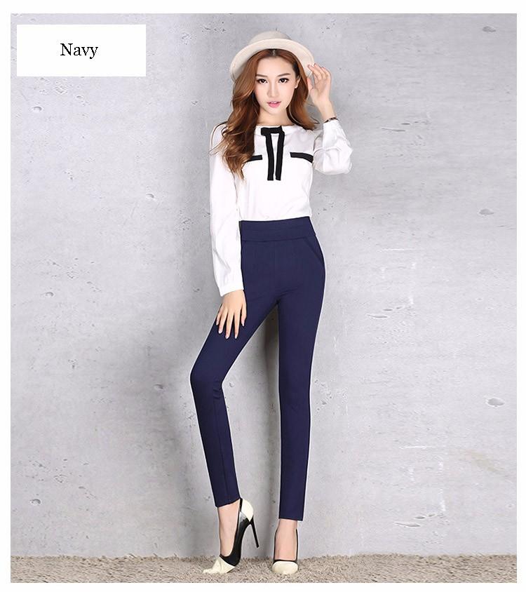 2016 New Autumn Winter Women Casual Stretch Leggings Pencil Sport Pants Skinny Leggings Women\'s Clothing Trousers Plus Size A661 f