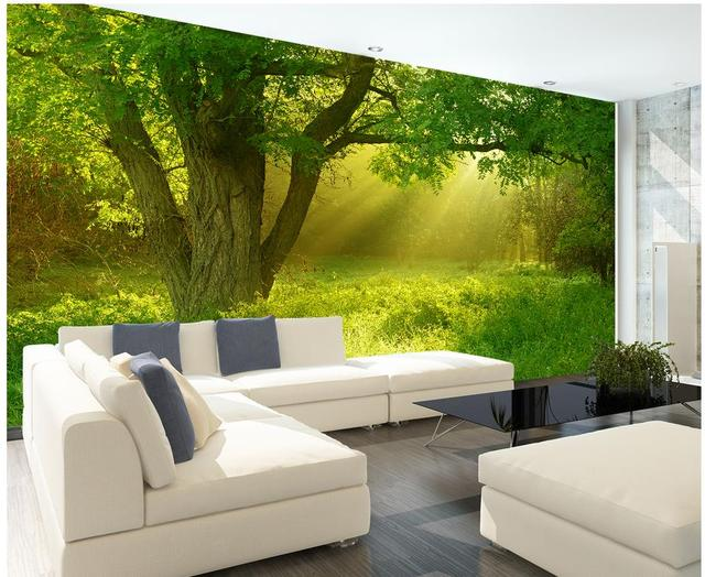 Murales d carta da parati per soggiorno natura della giungla