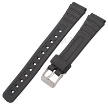 HENGRC 16mm 18mm 20mm Rubber Watchbands Women Men Black Sport Diving Silicone Watch Strap Band Buckle For Casio Accessories