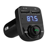 FM Transmitter Modulator Handsfree Bluetooth Car Kit Car Audio MP3 Player with 3.1A Fast Charge Dual USB Car Charger