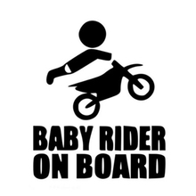 Big sale 15CM*13CM Baby Dirtbike Sticker Dirt Bike Motocross Stunts Motorcycle Paddles Car Stickers And Decals Black/White