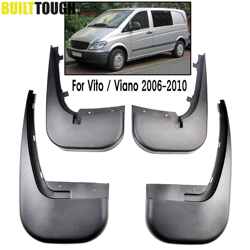 4Pcs Front Rear Car Mud Flaps For Benz Vito Viano W639 2006 2007 2008 2009 2010