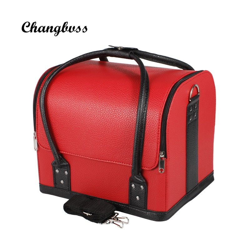 New Fashion Women Makeup Organizer Removable Cosmetic Bag Lady Necessaire Make Up Bag High Capacity Travel Organizer Pouch