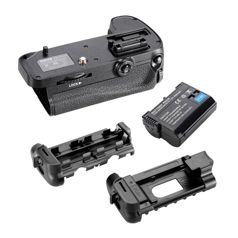 Meike Vertical Battery Grip for Nikon D7200 D7100 + Rechargeable Li ion Batteries as EN EL15 017209