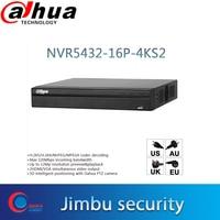 Dahua POE NVR 32ch NVR5432 16P 4KS2 P2P Network Video Recorder H.265/H.264 1.5U 4K Pro 16PoE ports Up to 12Mp resolution