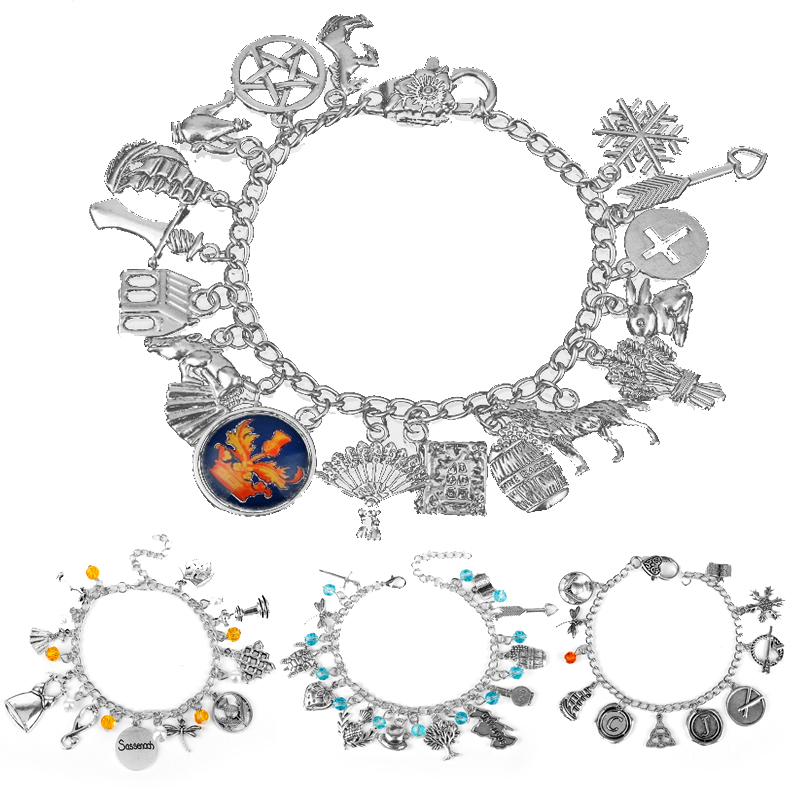 TV Series Jewelry A Bracelets Outlander Themed Charm Dangles&Bracelet Handmade Wristhand Chain For Women Men Fans Gift
