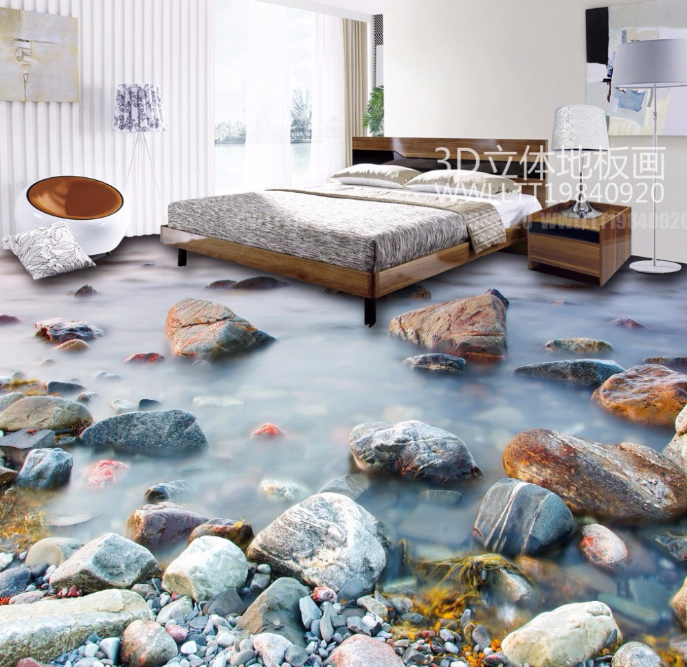 ФОТО Free Shipping high quality 3D stereo stone clouds floor mural living room restaruant hotel PVC floor wallpaper mural