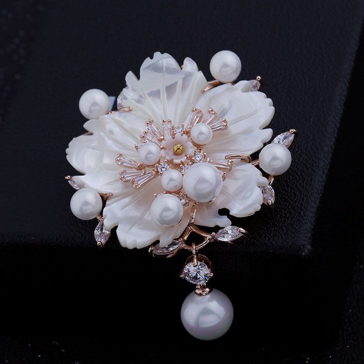 Nënë mahnitëse e Vjetër e Vjetër e Nuseve të Perlave Lule Pearl - Bizhuteri të modës - Foto 5