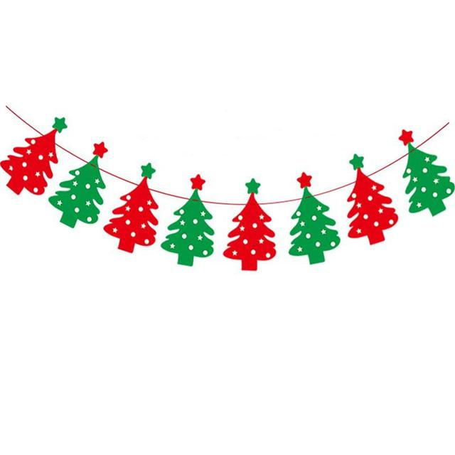 35M Christmas Tree Flag Bunting Garland Banner Party