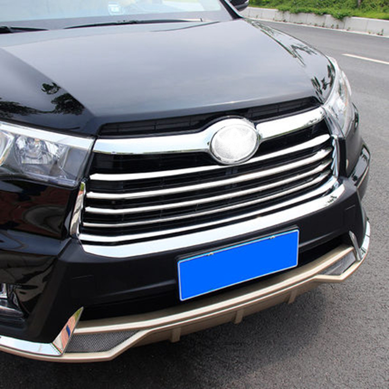 Car Styling para Toyota Highlander 2014 2015 ABS Chrome Front Center - Autopartes