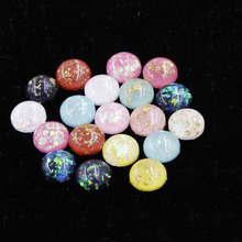 Fnixtar 12mm Round Synthetic Opal Stone Cabochon Beads Flatback AB Color  Resin For Opal Jewelry Making 1bfefa26508c
