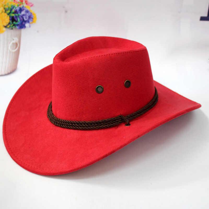 Westerse Cowboy Hoed Mannen Rijden Cap Mode Accessoire Brede Rand Kreukelzone Krimpen Gift AIC88