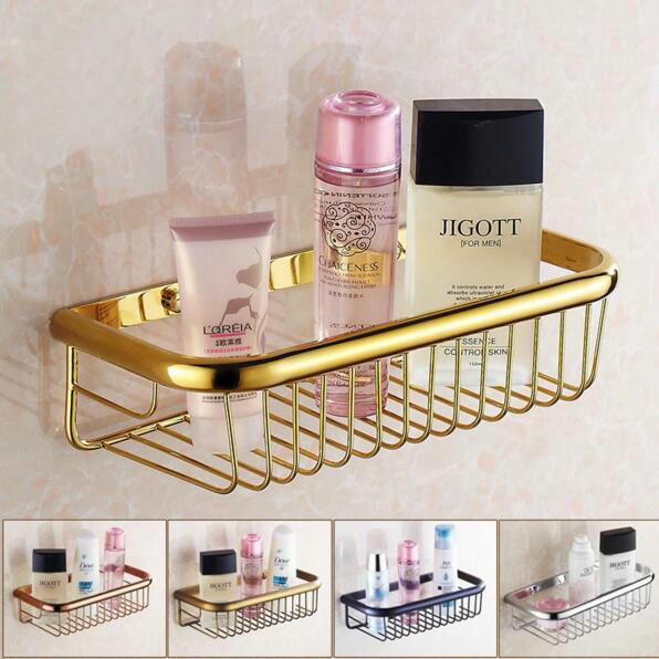 20/30/45cm Brass Bathroom Shelf Single Tier Shelf Wall Mounted Bathroom  Accessories Basket Antique/Gold/Chrome/Black Shelf - Online Get Cheap Small Floating Shelves -Aliexpress.com Alibaba