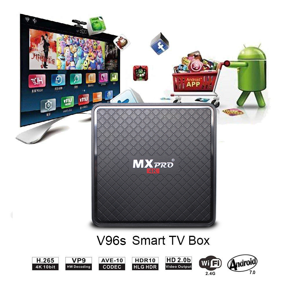 Image 2 - Vmade V96S H3 HD Android TV BOX Android 7,0 caja de TV inteligente Allwinner H3 Quad Core WiFi IP TV twitter Set top box 1GB+8GB-in Set-top Boxes from Consumer Electronics