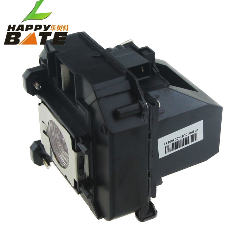 HAPPYBATE Projector Lamp ELPLP64/V13H010L64 for EB-1840W EB-1850W EB-1860 EB-1870 EB-1880 EB-D6155W EB-D6250 with Housing elplp73 projector lamp for eb 8150nl eb z10000 eb z1000nl eb z10005 eb z1000rnl z8150 z8250wnl z8350w with housing happybate