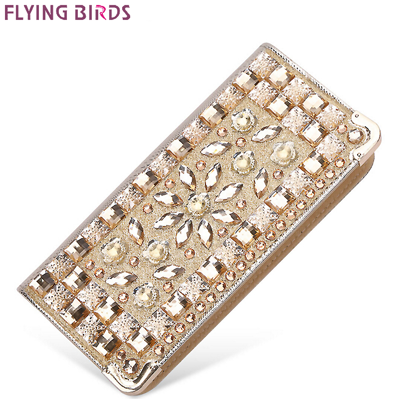 FLYING BIRDS wallet for women wallets brands purse dollar price Diamond designer purses card holder coin bag female LM4110fb цены