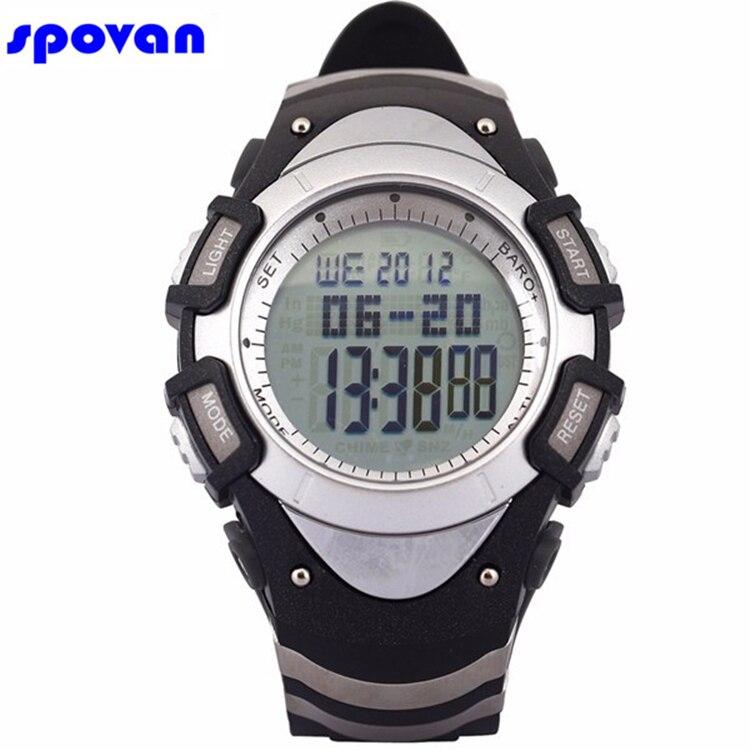 где купить Men's Womens Waterproof Sport Digital Watch Man Military Barometer Altimeter Thermometer Weather 28 Cities World Time Watch 2017 по лучшей цене