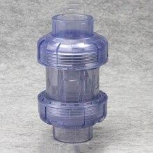 20mm Innen Durchmesser Transparent PVC One Way Non Return Überprüfen Ventil Rohr Fitting Für Garten Bewässerung Aquarium Aquarium