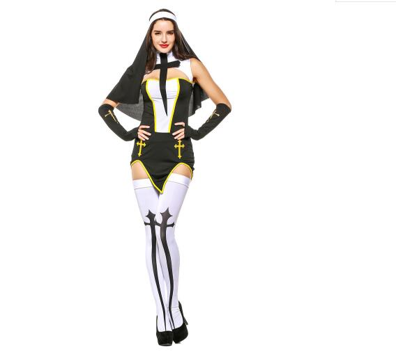 Hot Masquerade Carnival Maria Role Playing Caps Halloween Jesus Apparel Cosplay Costume Adult Female