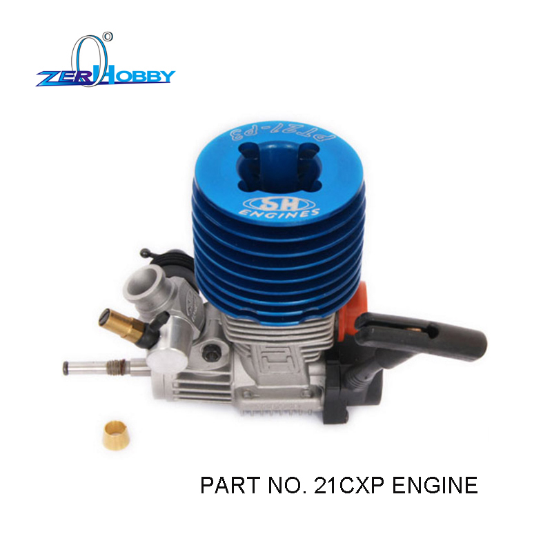 HSP Rc Car Toys Parts Accessories SH21 1/8 Nitro Race Engine Motor, 3.48cc M21-P3 for 1/8 rc monster buggy (Part No. SH21CXP) engine blue for hsp 02060 rc 1 10 1 8 on road car buggy truck original part
