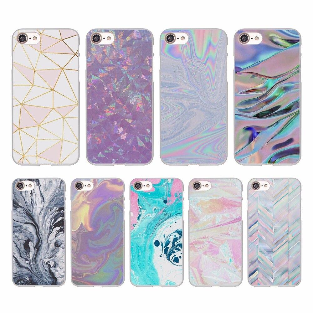Цвет розовый и aqua Мрамор Дизайн Жесткий Белая кожа чехол для Apple iPhone SE 5 5S 5C 7 7 Plus 6S 6 plus