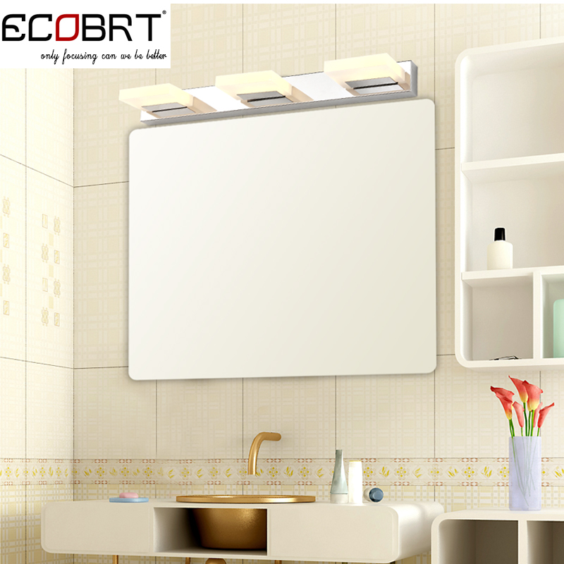 ФОТО Modern 9W 55cm long led wall lights Bathroom AC85-265V  Acrylic wall lamps decor lighting Waterproof driver CE ROHS
