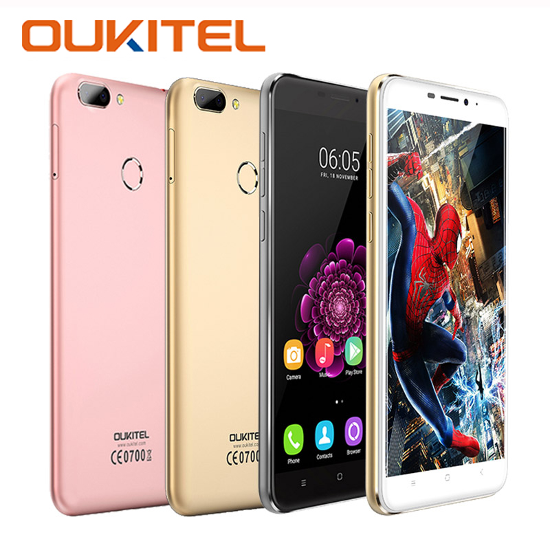 Original OUKITEL U20 Plus Moible Phones Fingerprint MTK6737T Quad Core 16G ROM 2G RAM 1080P 5