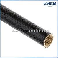 100 м 10.0 мм 2500 В огнестойкость с силиконовым покрытием оплетки из стекловолокна Класс & C черный
