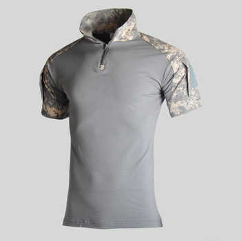 Assault Camouflage Tactical T Shirt Men Short Sleeve US Army Frog Combat Tees Shirt Summer Multicam Military Airsoft Shirts Polo