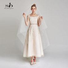 Короткое свадебное платье свадебные платья 2018 кружевные аппликации