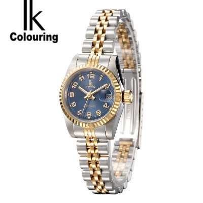 Simple IK Coloring Womens Relogio Feminino Day Quartz Watches Waterproof Wristwatch Original Box Free Ship