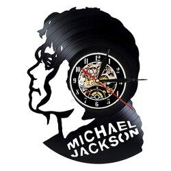 Płyta winylowa zegar ścienny nowoczesny Design motyw muzyczny Pop King Michael Jackson zegary ścienne zegar dekoracyjny do domu prezent dla człowieka