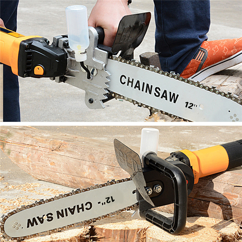 12 Inch Electric Chain Saw Converter Chainsaw Bracket Tree Felling Saw Changed M10 Angle Grinder Into Chain Saw Woodworking Tool12 Inch Electric Chain Saw Converter Chainsaw Bracket Tree Felling Saw Changed M10 Angle Grinder Into Chain Saw Woodworking Tool