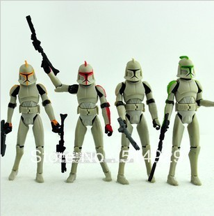 D-war clone dragon war white soldier action figure strategic defense initiative star toys doll for children boy freeshipping